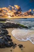 砂浜のビーチの日の出 — ストック写真
