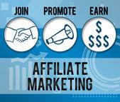 Affiliate Marketing Business Theme Background — Foto Stock