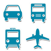 Travel Icons Stickers — Stock Photo