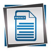 Privacy Policy Blue Square — Foto de Stock