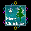 Merry Christmas Bright Colorful On Black — Stock Photo #58848055