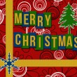 Merry Christmas Red Black Floral — Stock Photo #58848219