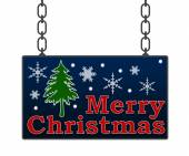 Merry Christmas Signboard — Stock Photo