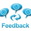 Feedback With comments Symbols Blue — Stock Photo #59428353
