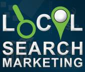 Local Search Markering Business Theme Background — Stock Photo
