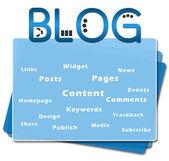 Blog Squares Bottom Blue — Stock Photo
