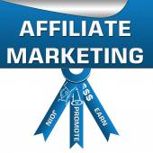 Affiliate Marketing Three Stripes Square — 图库照片