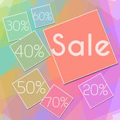 Colorful Squares Sale Square — Stock Photo