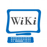 Wiki bilgisayar ekranı — Stok fotoğraf #60527399