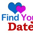 Find Your Date Target Banner — Stock Photo #62320187