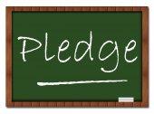 Pledge Classroom Board — Stock Photo