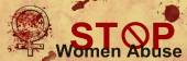 Stop Women Abuse Grunge Banner — Stock Photo