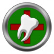 Red Cross Dental Tooth — Stock Photo #71584821