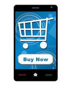 Acquista ora Smartphone — Foto Stock