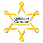 Childhood Cancer Awareness Ribbon Circle — Photo