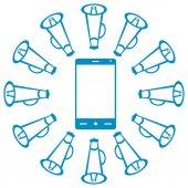 Smartphone With Loudspeaker — Stock Photo