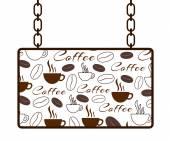 Coffee Texture Signboard — Stock Photo