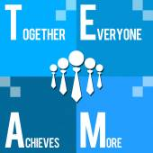 Team - Together Everyone Achieves More Blue — Stock Photo