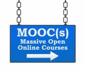 Moocs Massive Open Online Courses Signboard — Stock Photo
