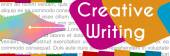 Tvůrčí psaní barevný nápis — Stock fotografie