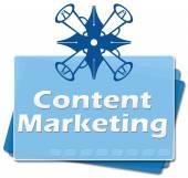 Content Marketing Bottom Squares — Stock Photo