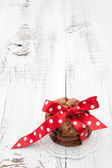 Festive wrapped chocolate homemade cookies — Stock Photo
