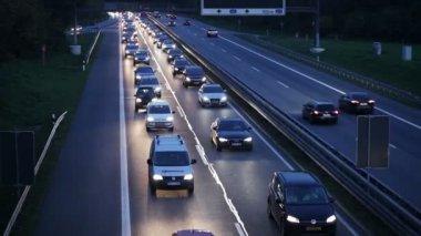 Traffic jam - rush hour — Stock Video