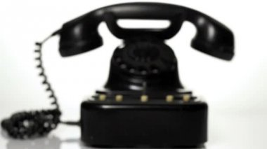 Old vintage telephone — Stock Video