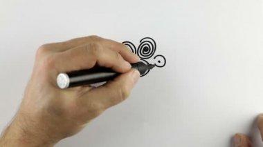Sketching a cartoon doodle — Stock Video