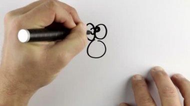 Schetsen een cartoon-doodle — Stockvideo