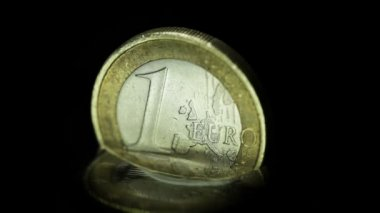 European union coin in rising water — Video Stock