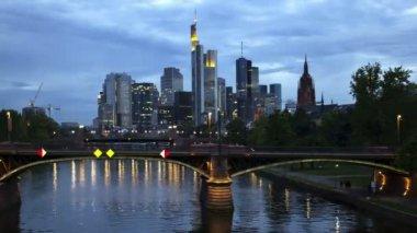 Timelapse Skyline Frankfurt am Main — Stock Video