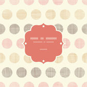 Vintage textile polka dots frame seamless pattern background — Stock Vector