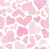 Pink textile hearts seamless pattern background — Wektor stockowy