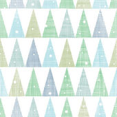 Abstract Christmas trees forest in snow seamless pattern background — Stock Vector