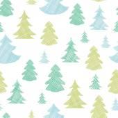 緑青いクリスマス ツリー シルエット繊維のシームレスなパターンの背景 — ストックベクタ