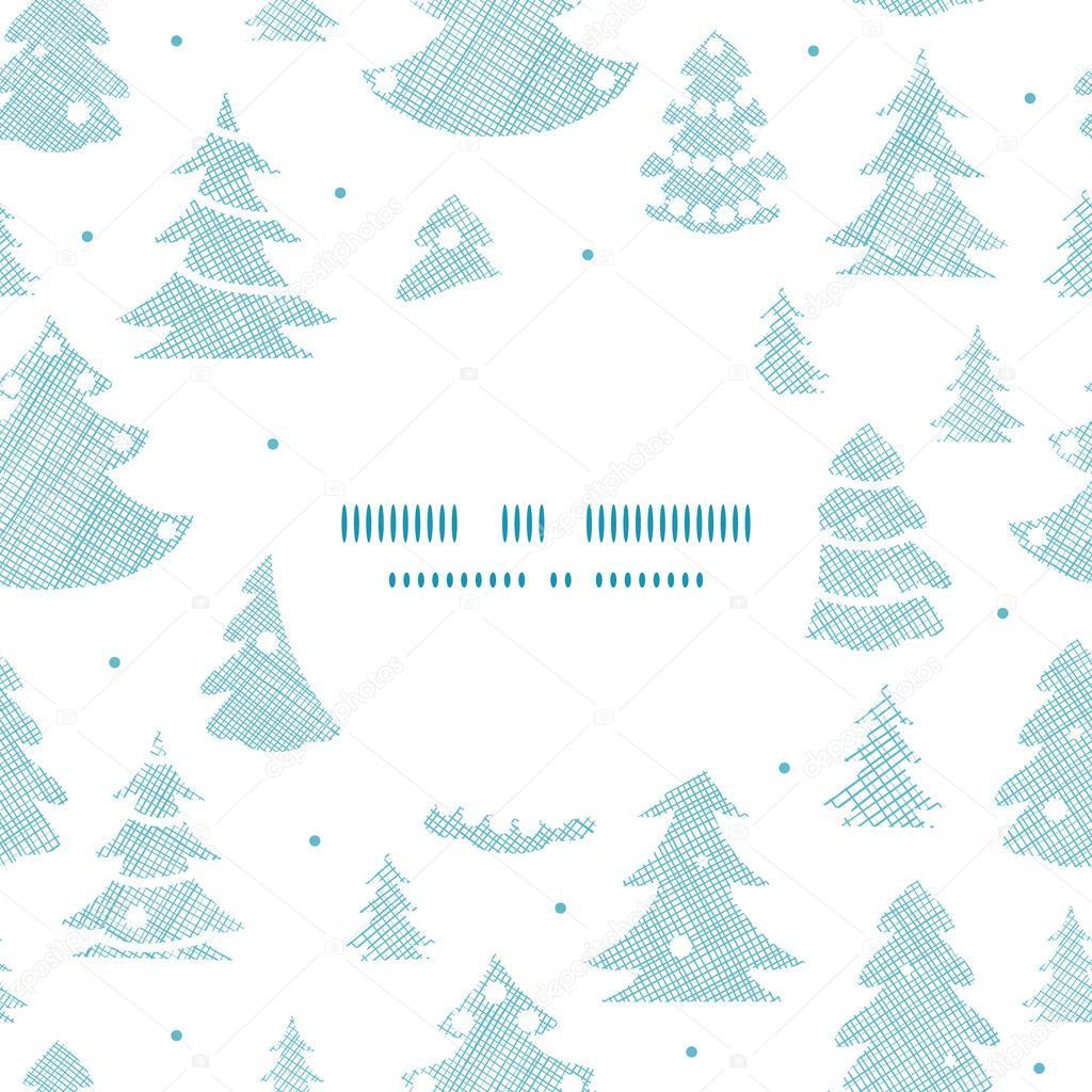 blaue erg nzten weihnachten b ume silhouetten textile. Black Bedroom Furniture Sets. Home Design Ideas