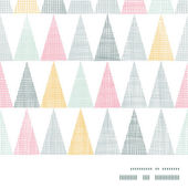 Abstract textile colorful textured triangles frame border seamless pattern background — 图库矢量图片
