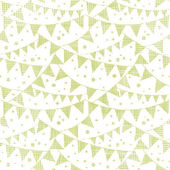 Green Textile Party Bunting Seamless Pattern Background — Stok Vektör