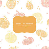Vector thanksgiving pumpkins textile frame seamless pattern background — 图库矢量图片