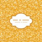 Vector golden shiny glitter texture frame seamless pattern background — Stock Vector #54007963