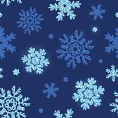 Vektor glitter snöflingor mörka sömlös bakgrund — Stockvektor
