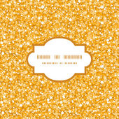 Vector golden shiny glitter texture frame seamless pattern background — Stock Vector