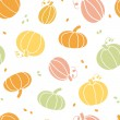 Vector thanksgiving colorful pumpkins silhouettes seamless pattern background — Stock Vector #54075239