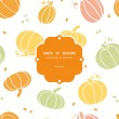 Vector thanksgiving colorful pumpkins silhouettes frame seamless pattern background — Stock Vector #54413895