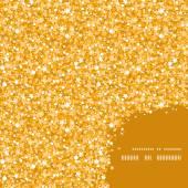 Vector golden shiny glitter texture frame corner pattern background — Stock Vector