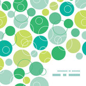 Vector abstract green circles frame corner pattern background — Stock Vector