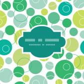 Vector abstract green circles frame seamless pattern background — Stock Vector