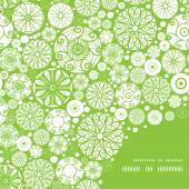 Vector abstract green and white circles frame corner pattern background — Stock Vector