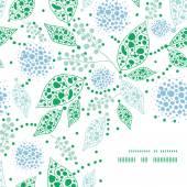 Résumé de vecteur bleue et verte feuilles fond cadre coin — Vecteur
